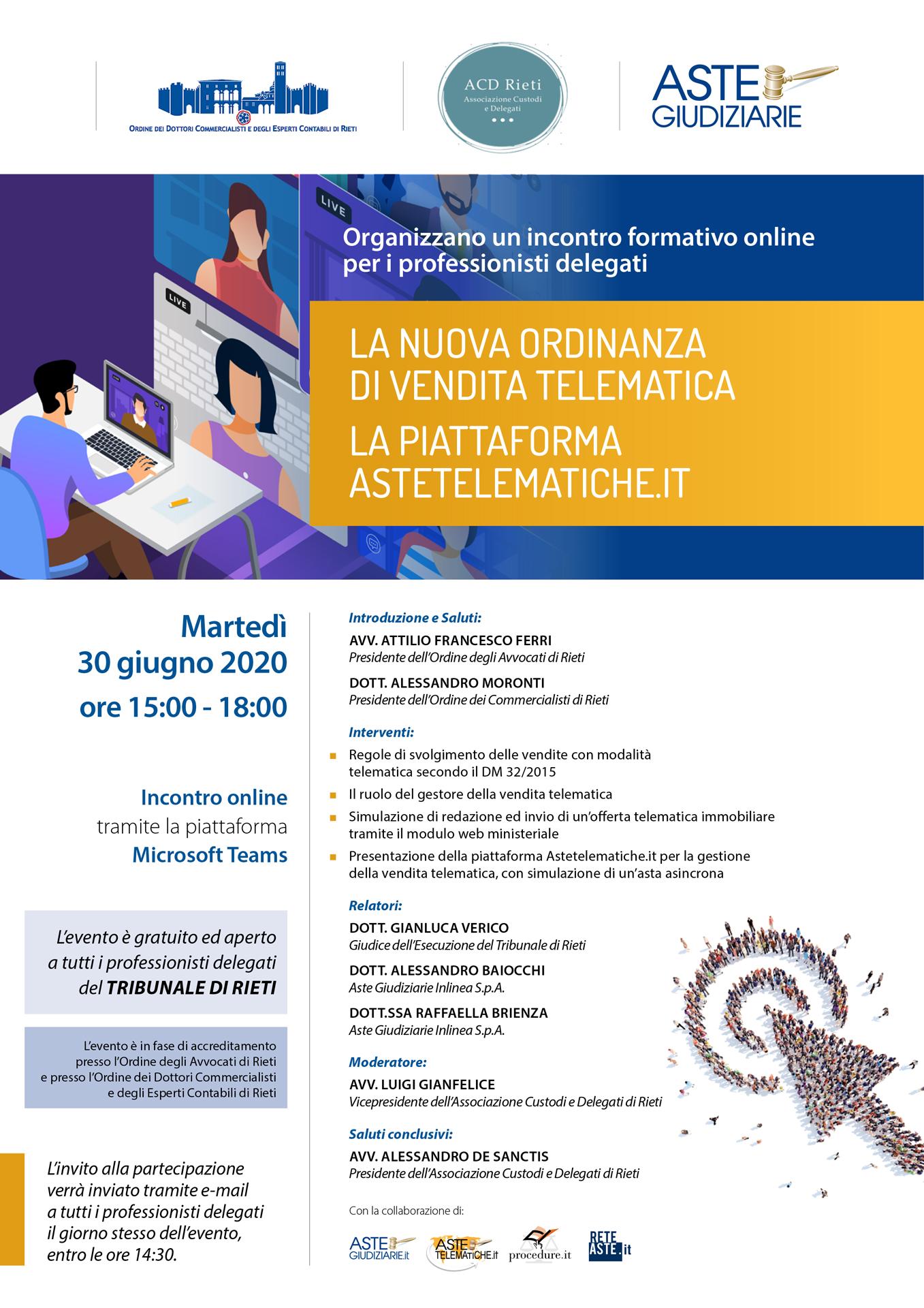 La nuova ordinanza di vendita telematica la piattaforma astetelematiche.it